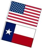 NEW 3'x5' TEXAS State Flag & AMERICAN Flag Polyester