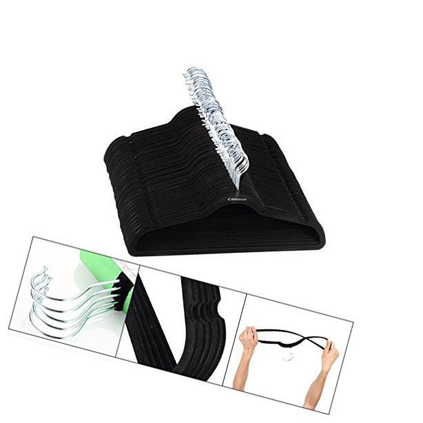 Ollieroo 100 PCS Thin Flocked Non Slip Velvet Clothes Suit/