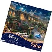 Thomas Kinkade Cinderella Clock Strikes Midnight 750 Ceaco