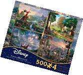 Ceaco THOMAS KINKADE DISNEY DREAMS COLLECTION 4 IN 1 JIGSAW