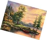 CEACO THOMAS KINKADE JIGSAW PUZZLE MORNING LIGHT LAKE 1000