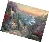 CEACO THOMAS KINKADE JIGSAW PUZZLE THE VILLAGE LIGHTHOUSE