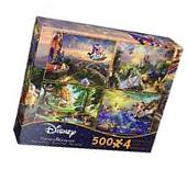 Ceaco Thomas Kinkade 4in1 Multi Pack Disney Puzzles