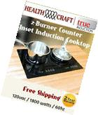 True Induction TI-2B Counter Inset Double Burner Induction