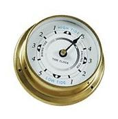 Ambient Weather TIDECLOCK-23 4.5 Nautical Brass Quartz Tide