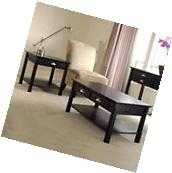 Winsome Timber 2 Piece Coffee and End Table Set in Black