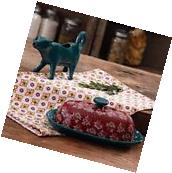 The Pioneer Woman Timeless Floral Stone Butter Dish and Cow