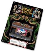 "TIN SIGN ""Double Dragon Arcade"" Game Room Art Marquee"