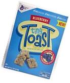 General Mills Tiny Toast Blueberry Cereal 11.1 oz NEW &
