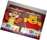Set of 2 Baby Child toddler bath mitt puppet Pooh Bear &
