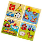 Baby Toddler Intelligence Development Animal Wooden Brick