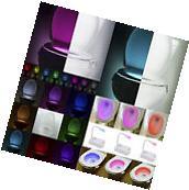 8 Colors LED Toilet Bathroom Night Light Human Motion