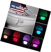 Toilet Night Light 16 Color LED Motion Activated Sensor Bowl