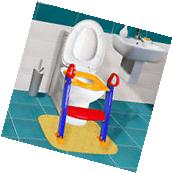 Toilet Potty Trainer Seat Chair Kids Toddler With Ladder