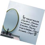 Toilet Rules Bathroom Removable Wall Sticker Vinyl Art