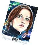 Topps Star Wars Rogue One S1 FELICITY JONES Autograph Jyn