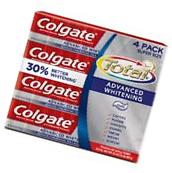 Colgate Total Advanced Whitening Toothpaste 4ct / 8oz - NEW