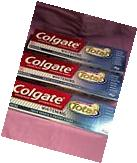 Lot of Colgate Total Whitening Lot of 3 Tubes  6 OZ. Toothpaste