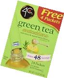 4C Totally Light Tea 2 Go Green Tea, Ice Tea Mix, Sugar Free