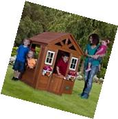 Outdoor Toy Playhouse Kids Backyard Lawn Wooden Toy Play