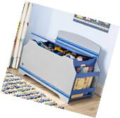 Toy Box With Bookshelf For Boys Chest Organizer Storage