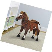 """Kids Toy 24"""" Ride On Horse Plush Standing Pony Cowboy Gift"""