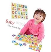 Baby Toys 26pcs Letters Kids Wooden Alphabet Child