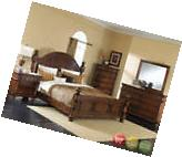 Augusta Traditional Walnut King Poster Bed 4 Piece Bedroom