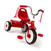 Tricycle Radio Flyer Ready-To-Ride Folding Red Bicycle Bike