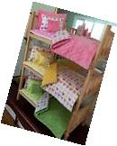 Triple Bunk Bed Stackable & 15 PC Bedding W/Mattress 18""