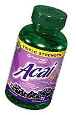 Vitamin World Triple Strength Acai 3x, 3000mg, 120 Softgels