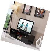 TV Stand Black Entertainment Media Console Furniture High