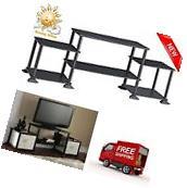 TV Stand Entertainment Center Black Storage Cabinet Media