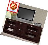 TV Stand Entertainment Center Wood Cabinet Media Console