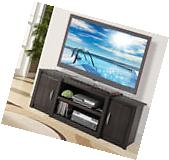 "60"" TV Stand Cherry Wood Doors Entertainment Center Media"