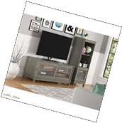 "TV Stand 55"" Console Media Console Rustic Grey Woodgrain"
