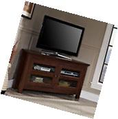 TV Stand Corner Entertainment Center Brown Living Room