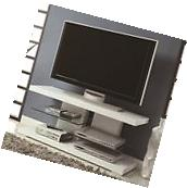 Coaster Tv Stand White- 700824 TV CONSOLE NEW