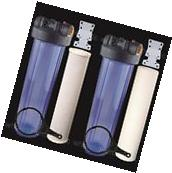 """Two 20"""" Big Blue Whole House Water Filter w/ Sediment &"""