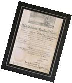 U.S. James Madison Monroe Signed Doc Print Constitution