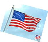 4X6 U.S./US AMERICAN FLAG /MADE IN USA/EMBROIDERED DUPONT