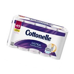 Cottonelle Ultra Comfort Care Jumbo Roll Toilet Paper, 45