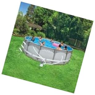 Intex 20' x 4' Ultra Frame Above Ground Swimming Pool Set +