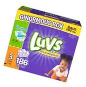 Luvs Ultra Leakguard Diapers Size 3 - 186 Count  Best Price