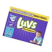 Luvs Ultra Leakguards Diapers Size 2 216 Count