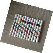 12pcs Universal Waterproof Permanent Paint Marker Pen Car