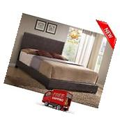 Upholstered Bed Frame Faux Leather Queen Size with Headboard