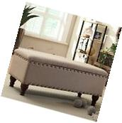 Storage Bench for Bedroom Upholstered Seat Ottoman Living