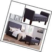 Upholstered Storage Bench End of Bed Seat Ottoman Entryway