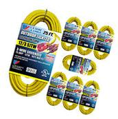 US Wire & Cable 25-FT 12/3 SJTW Heavy Duty Lighted Plug Extension Cord